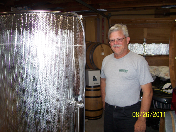 Retired Winery employee brewing up some wines