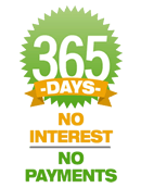 365 days no interest, no payments