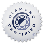 Diamond Certified Blue and SIlver Logo