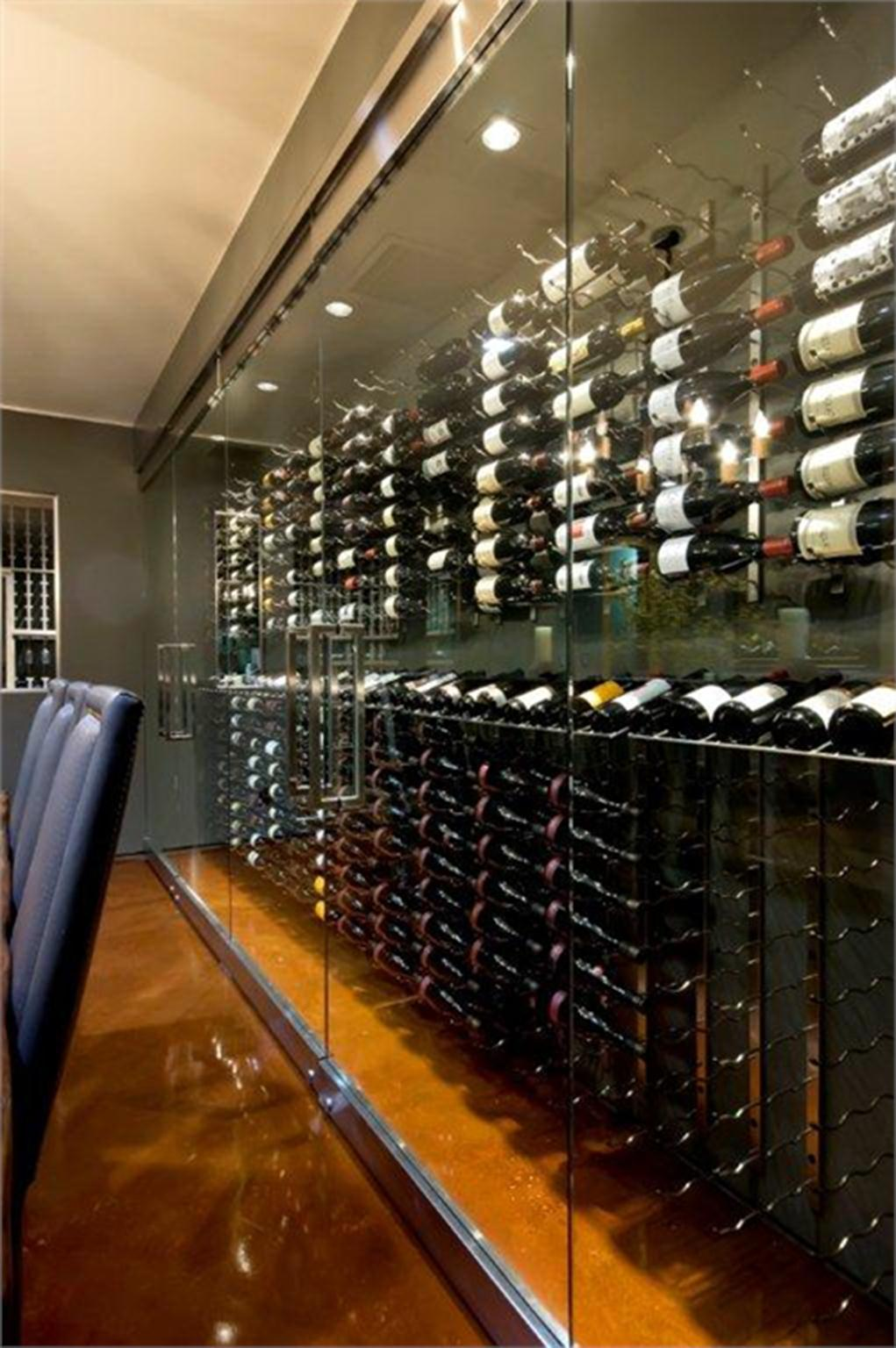 Wine Room With Glass Wall