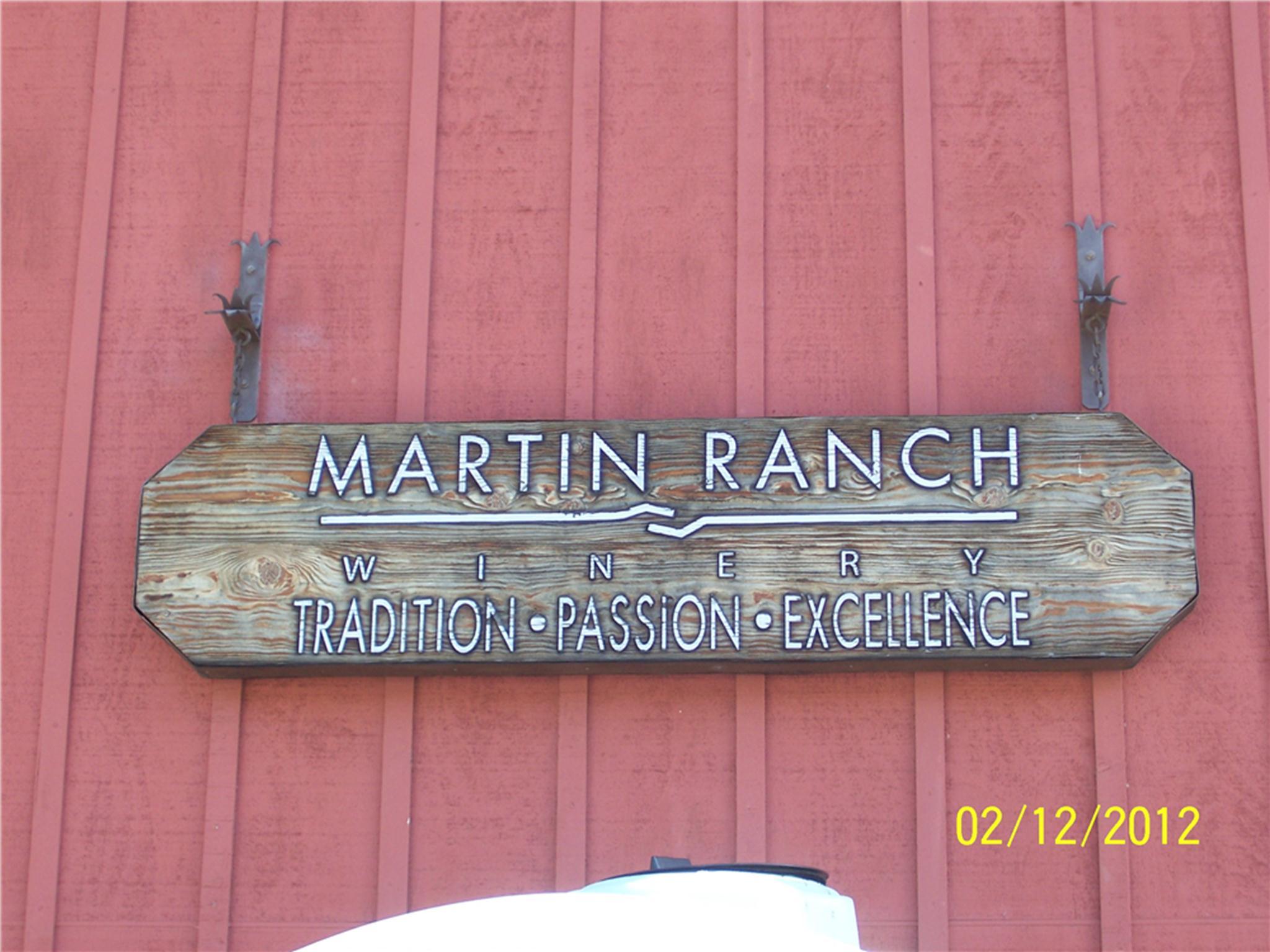 Martin Ranch sign post
