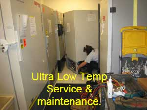 Ultra Low Temp Service & maintenance