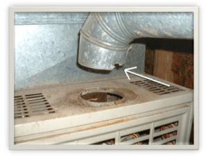 Disconnected flue pipe