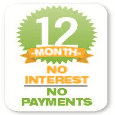 12 months no interest, no payments