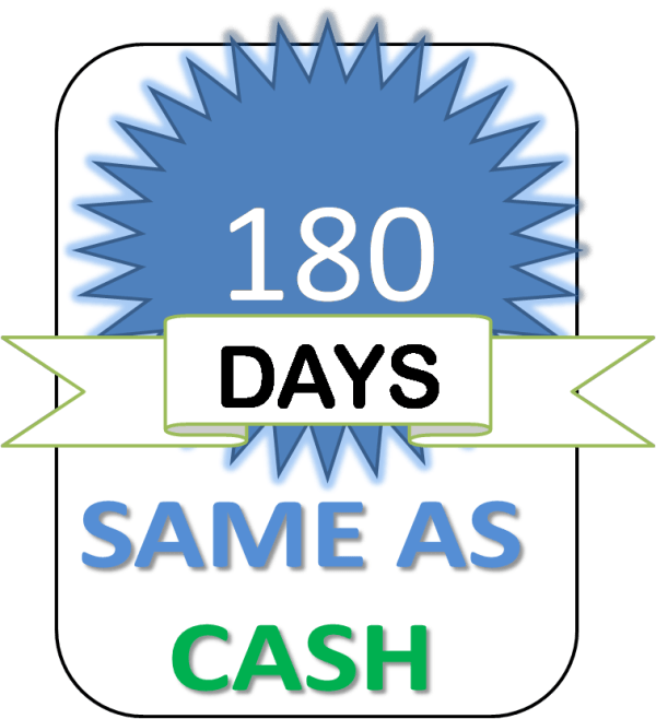 180 days same as cash