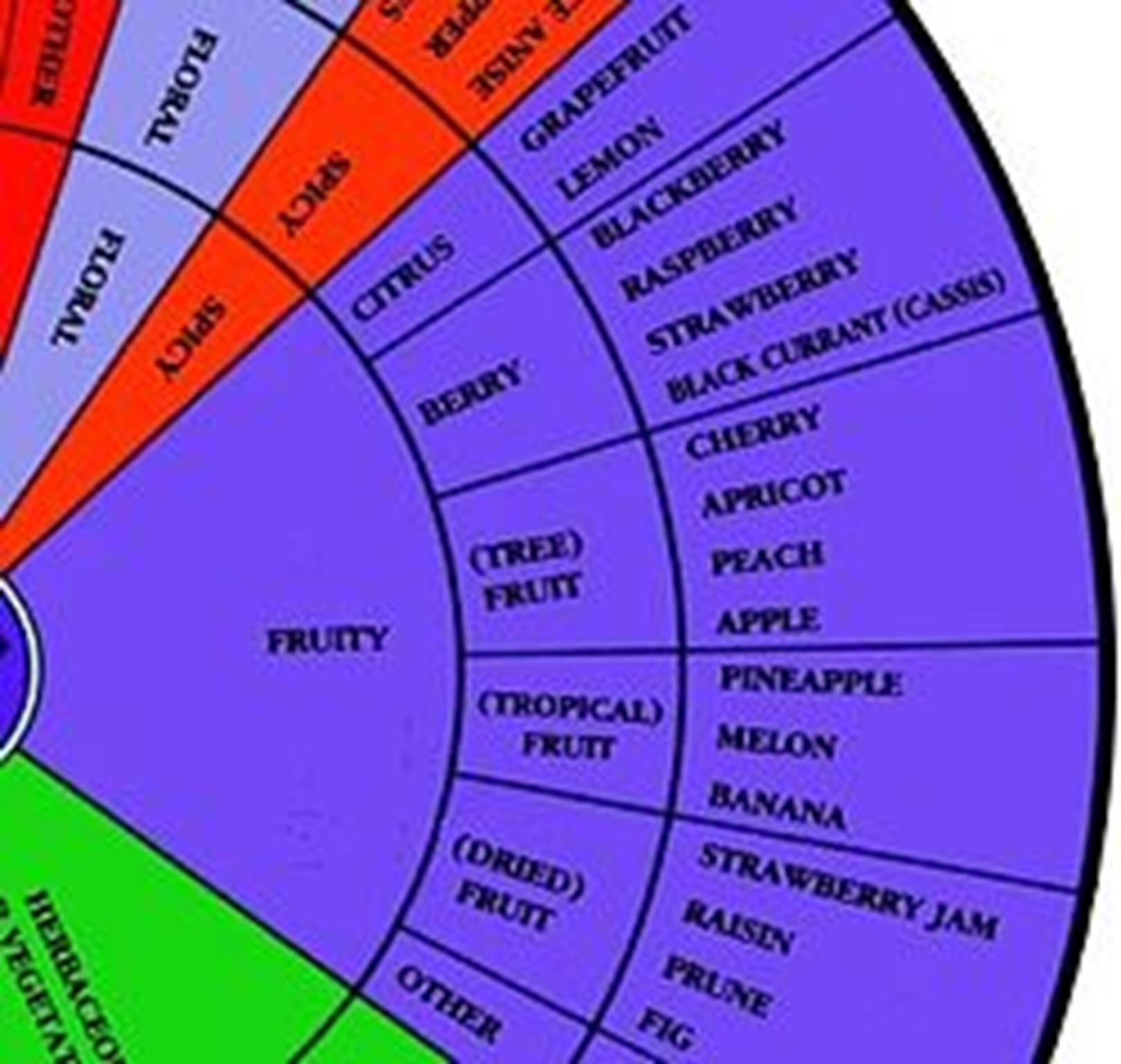 Section of the aroma wheel