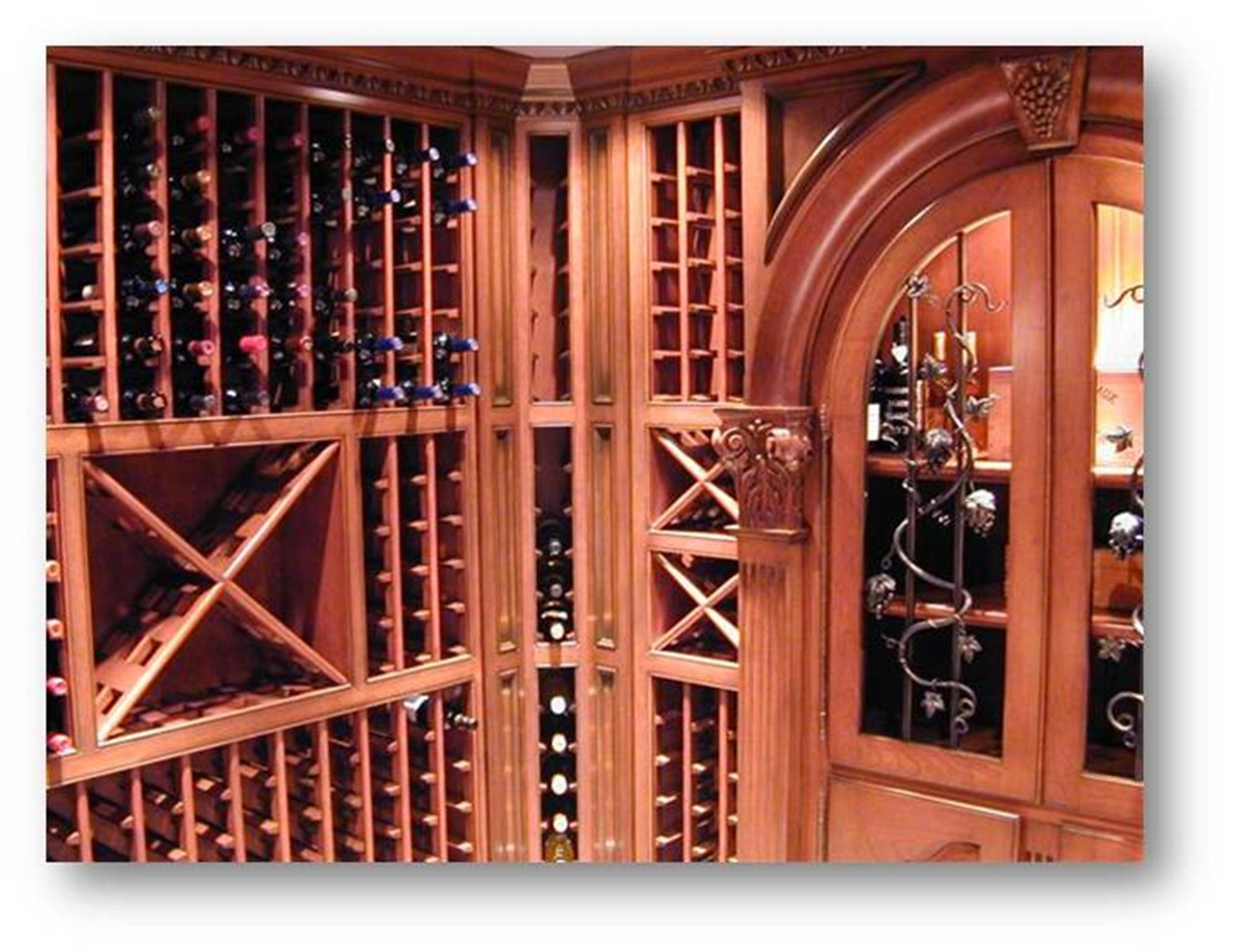 Wine cellar completed