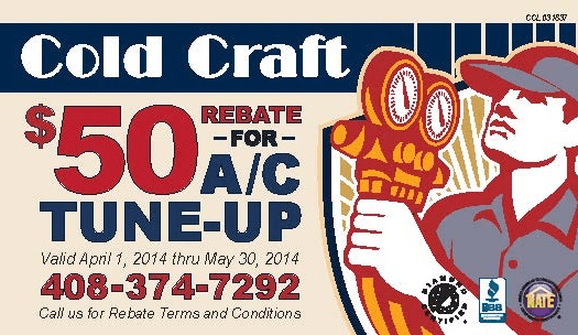 Get A Cold Craft Spring Tune Up On Your AC and Get $50 Rebate
