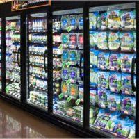 Grocery racks and freezer