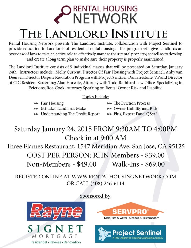 Landlord institute Silicon Valley
