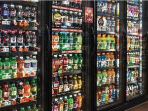 sodas in refrigerator