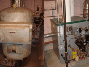 Old and new boiler