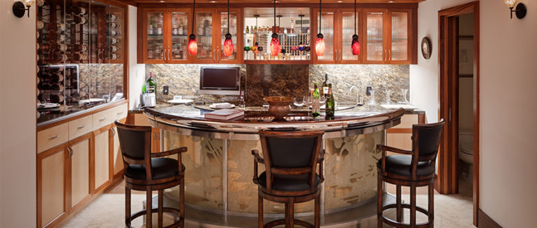 Kick Back in this Residential Tasting Room