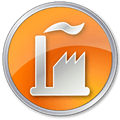 orange factory icon