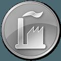 grey factory icon