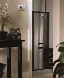 metal fridge
