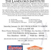 Attention Rental Property Owners, Educational Opportunity