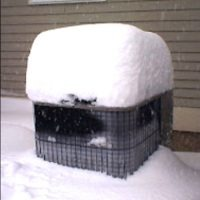 snow on top of a/c unit
