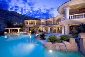 luxury home next to mountain