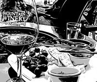 black and white photo of mountain winery