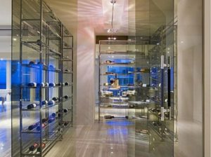 glassy wine room
