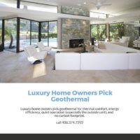 luxury homes and geothermal