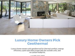 luxury homes and geothermal