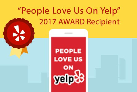 People Love Us On Yelp Award in 2017