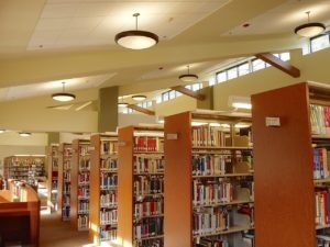 Inside of The new Feather River College Library